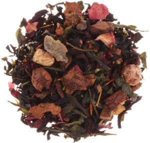 Loser Früchtetee mit schwarzem und grünem Tee, Früchten und Blüten