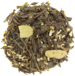 Loser grüner Tee Sencha mit Mandeln