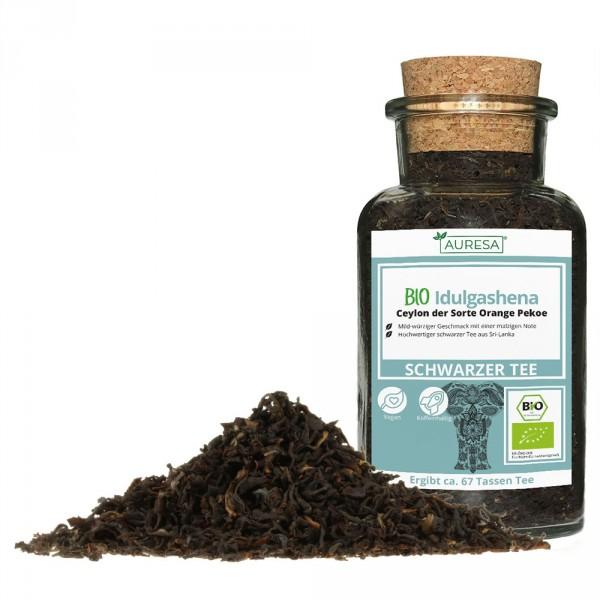Loser Schwarztee - Ceylon Bio Idulgashena mit Glas