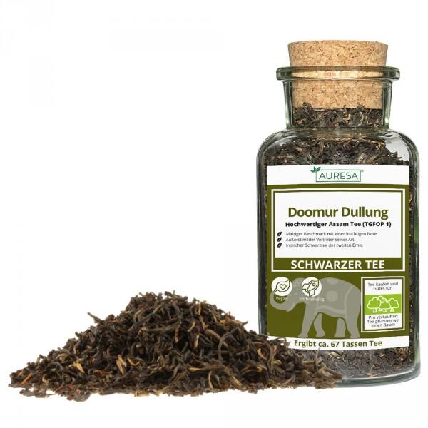 Loser schwarzer Tee aus Assam mit dunklem und fleischigem Blatt